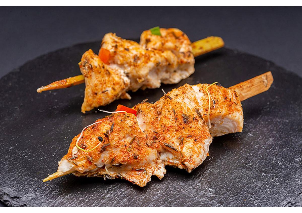 Brochettes de poulet aux épices cajun