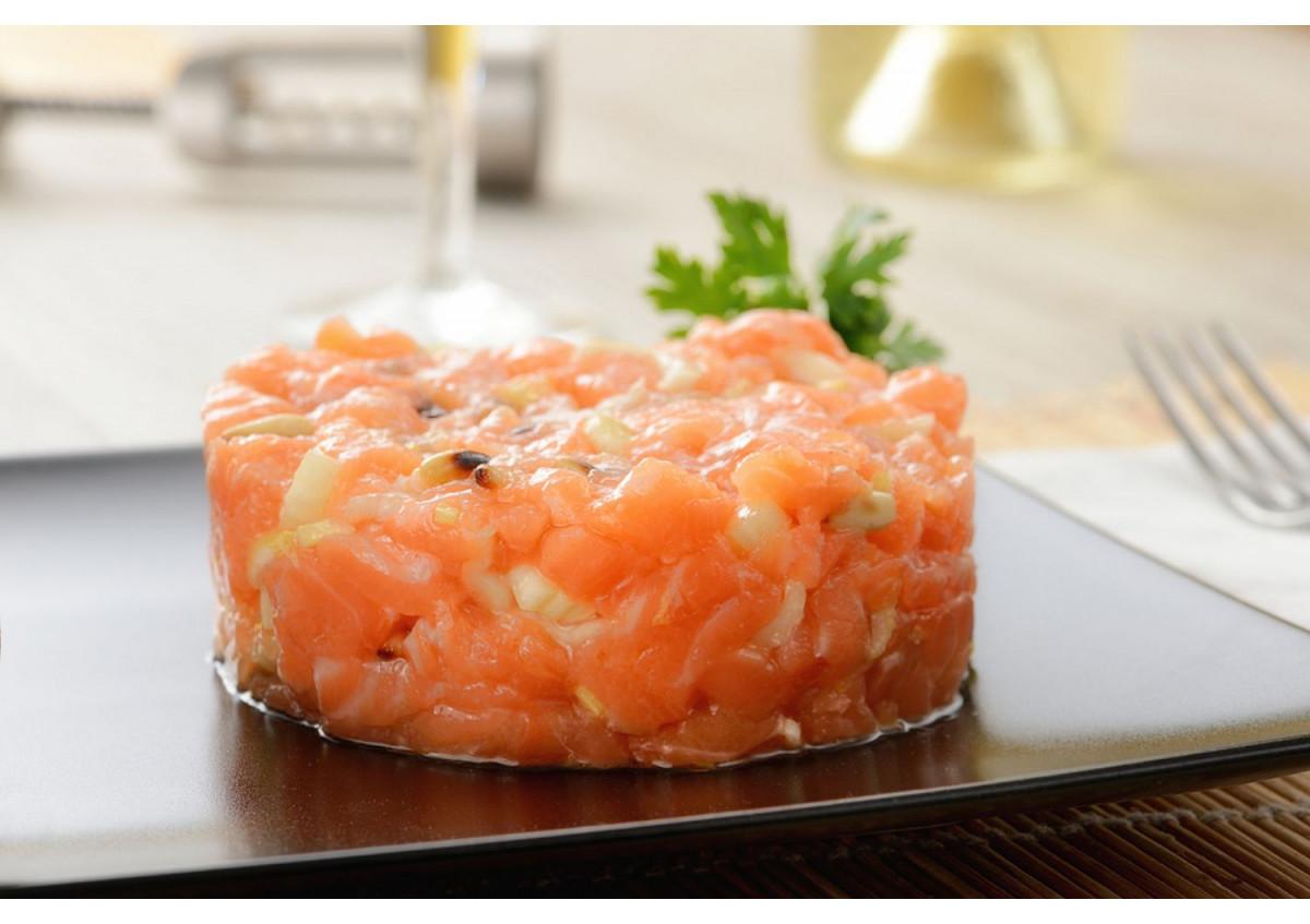 Tartare au deux saumons