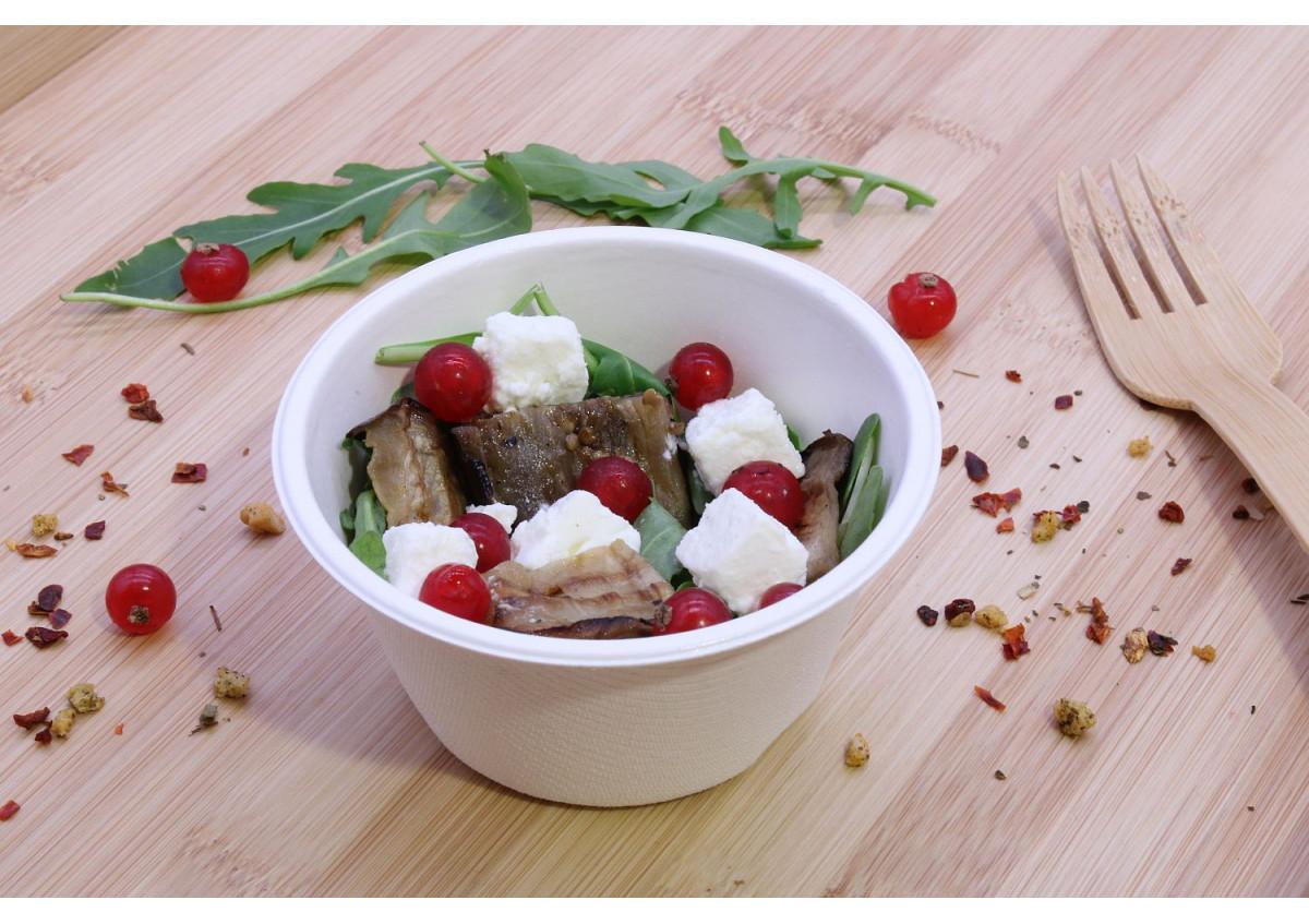 timbaline de salade d'aubergines