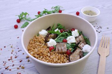 Bowl aubergines à la grecque