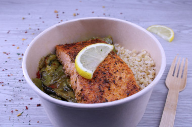 Bowl saumon aux épices