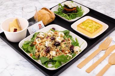 Plateau salade quinoa à la fêta