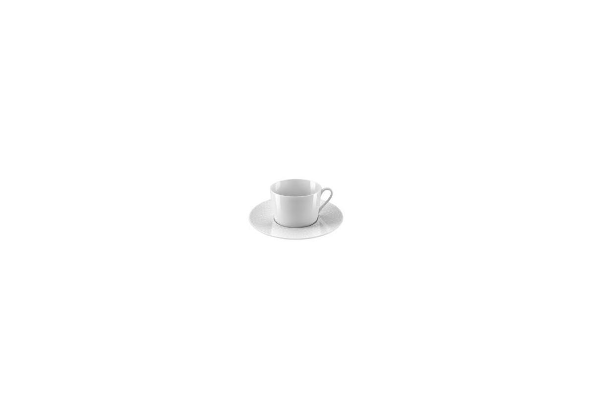Tasses et Sous Tasses en Porcelaine Blanche